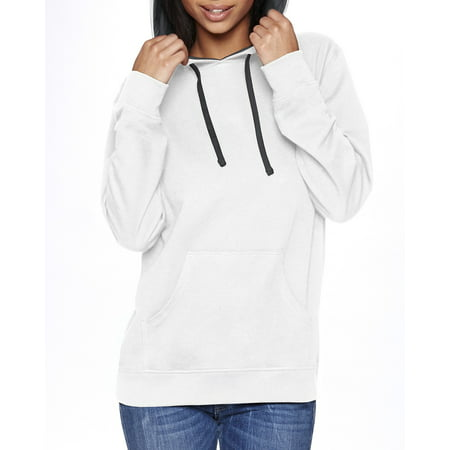 Branded Next Level Adult French Terry Pullover Hoody - WHT/ HTHR GRAY - XS (Instant Saving 5% & more on min 2)