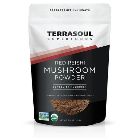 Reishi Mushroom Benefits - Terrasoul Superfoods Organic Reishi Mushroom Powder, 5.5 Oz