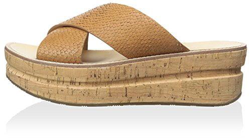 Belle by Sigerson Morrison Women's Almas Flatform Sandal, Medium Brown, 6 M US