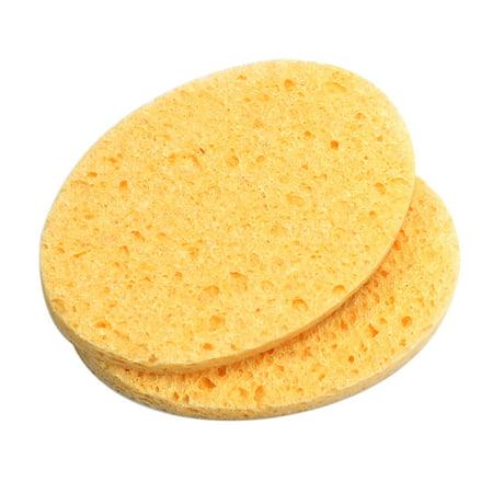 SOUTH FIN 2Pcs Facial Puff Face Clean Sponges Face Washing Sponge Puff Facial Cleaning Cleansing (Best Way To Clean Makeup Sponges)