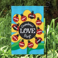 Lady Bugs Personalized Garden Flag