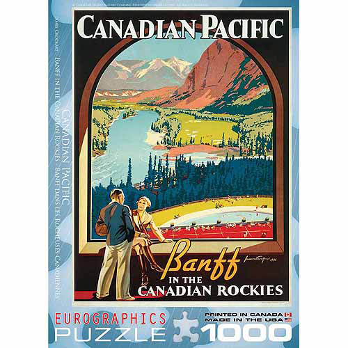 EuroGraphics CP Rail in The Canadian Rockies 1000-Piece Puzzle