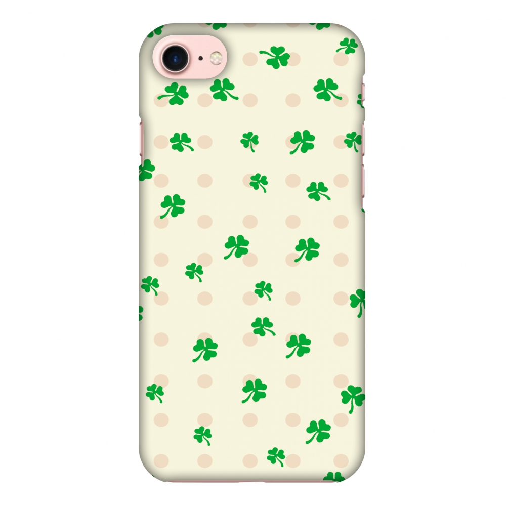 iPhone 8 Case, Premium Handcrafted Designer Hard Shell Snap On Case Printed Back Cover with Screen Cleaning Kit for iPhone 8, Slim, Protective - Shamrocks - Green
