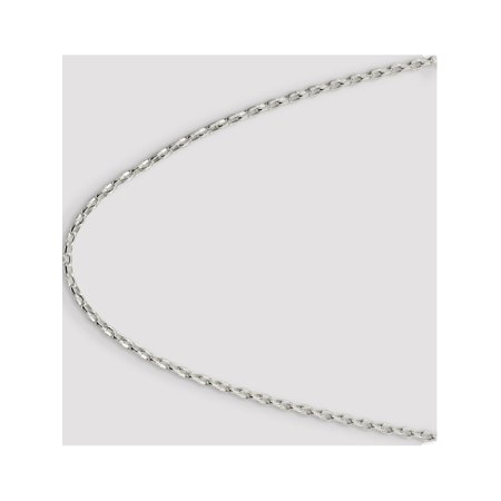 925 Sterling Silver 3.2mm Oval Rolo Necklace - image 4 of 5