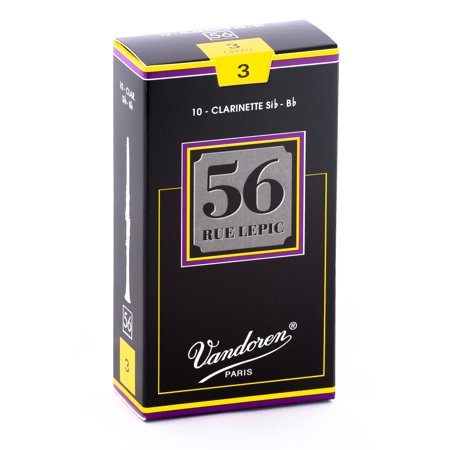 Vandoren Bb Clarinet 56 Rue Lepic Reeds Strength #3; Box of