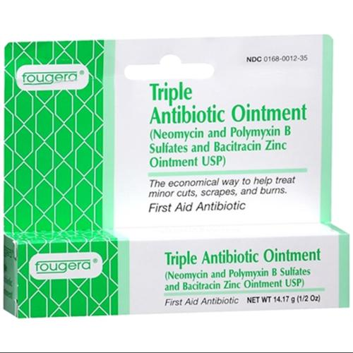 Fougera Triple Antibiotic Ointment 0.50 oz (Pack of 2)