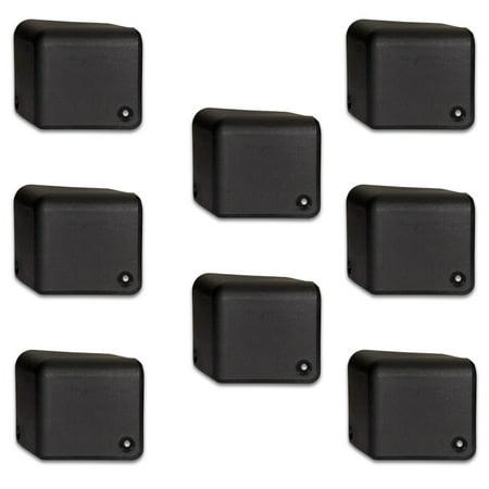 Goldwood Sound PBC-1641 ABS Plastic Rear Cabinet Corners Set of 8 Trapezoid Speaker Corners