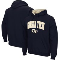 Georgia Tech Yellow Jackets Stadium Athletic Arch & Logo Tackle Twill Pullover Hoodie - Navy