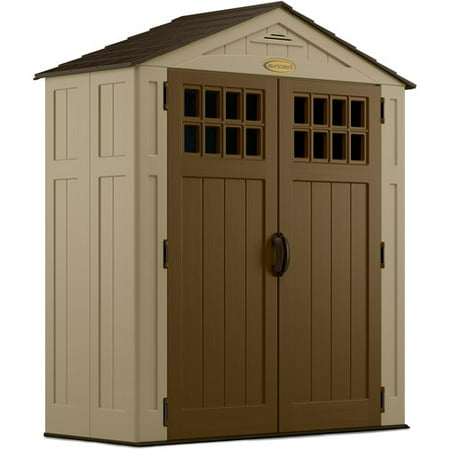 Suncast Everett® Storage Shed for Backyard, Vanilla, 6x3, 94 cu. ft.