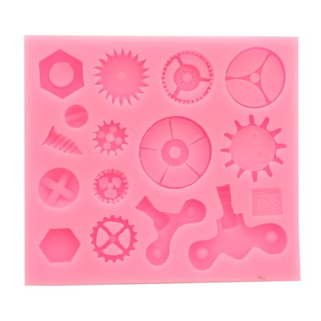 KABOER Perfect 1pc Diy New Steampunk Series Small Gear Series Cake Border Fondant Cake Silicone Molds for Kitchen Baking Decoration ()