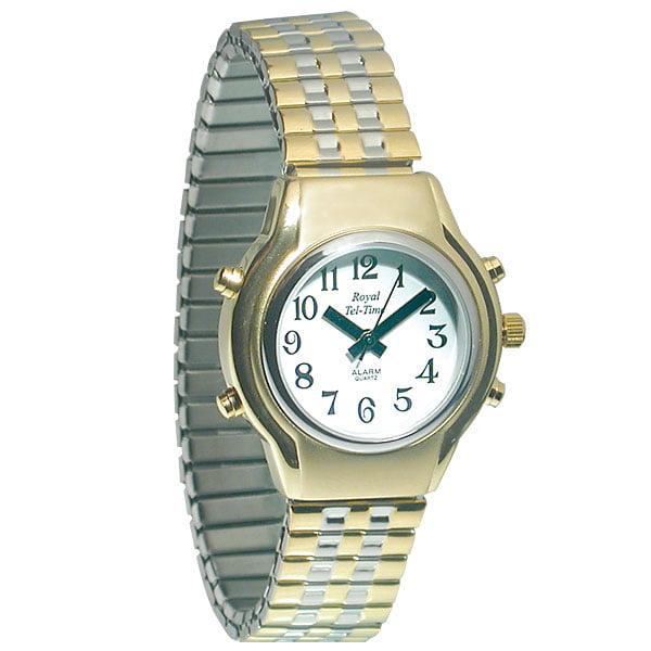 Maxi-Aids Ladies Royal Tel-Time Talking Watch - White Dia...