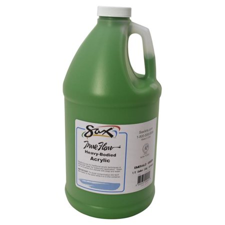 Sax True Flow Heavy Body Acrylic Paint, Half Gallon, Emerald Green ()