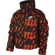 Nike Womens Sportswear Synthetic Fill JDI Jacket Coat Orange/Black CI5023 New (XL)