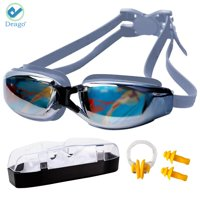 Deago Swim Goggles No Leaking Anti Fog UV Protection Swimming Goggles for Men Women Adult Youth Kids with Free Protection Case