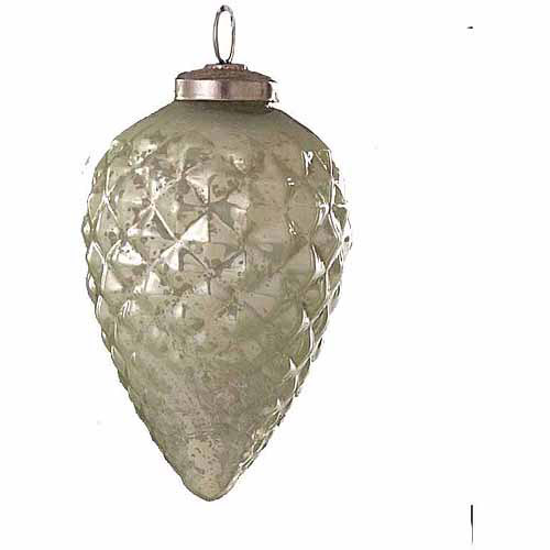 4 Glass Pine Cone Christmas Ornament, 6pk