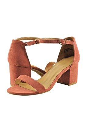 9ab1b594072 Product Image Bamboo Highlight 06S Women s Shoes Open Toe Chunky Heel  Sandals Dark Mauve