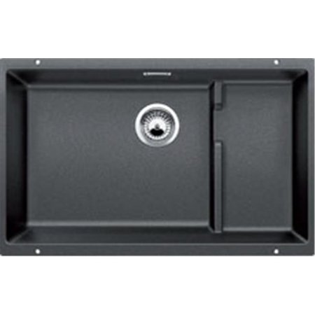 Precis Cascade Super Single Kitchen Sink - Anthracite