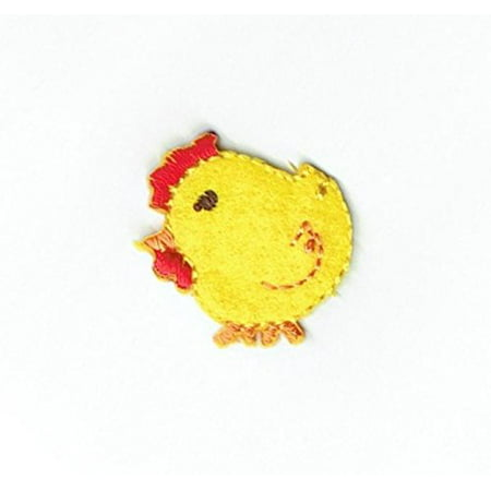 Small Yellow Baby Chick Chicken Iron on Embroidered Patch ()