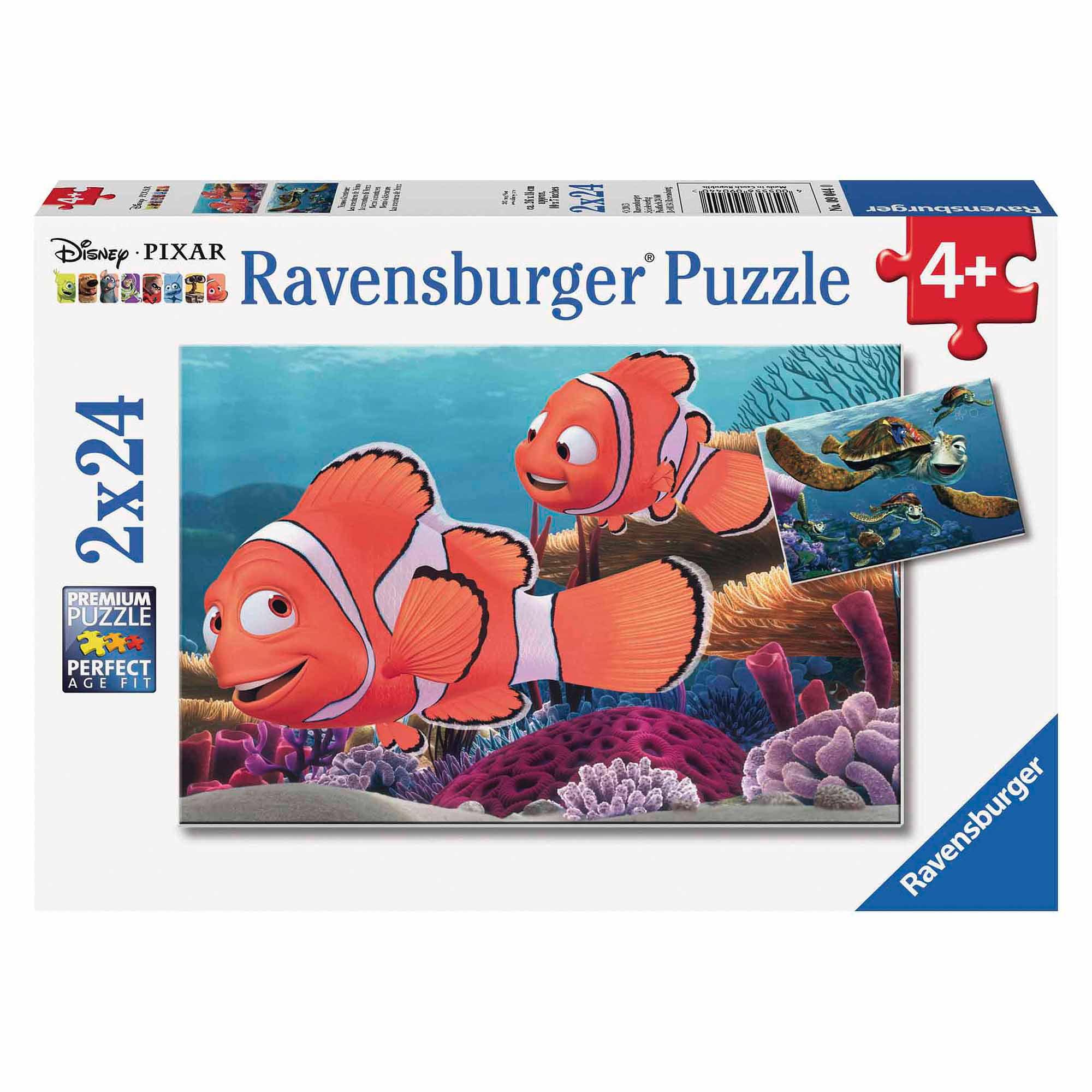 Nemo's Adventure Puzzle, Set of 2, 24 Pieces Each by Ravensburger