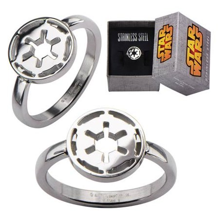 Star Wars Imperial Symbol Cut Out Ring SIZE 7 (Number of Pieces Per Case: 4)