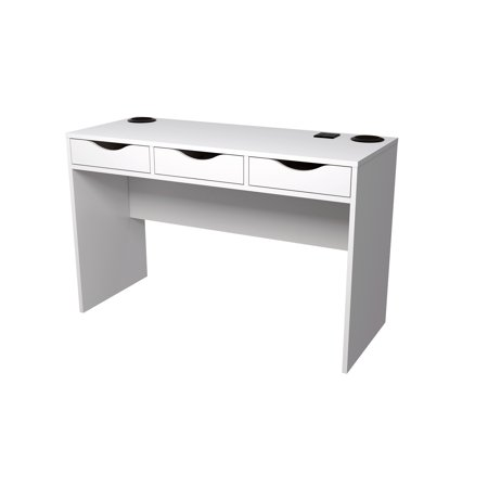 tvilum station desk with charging station and speakers white box 1