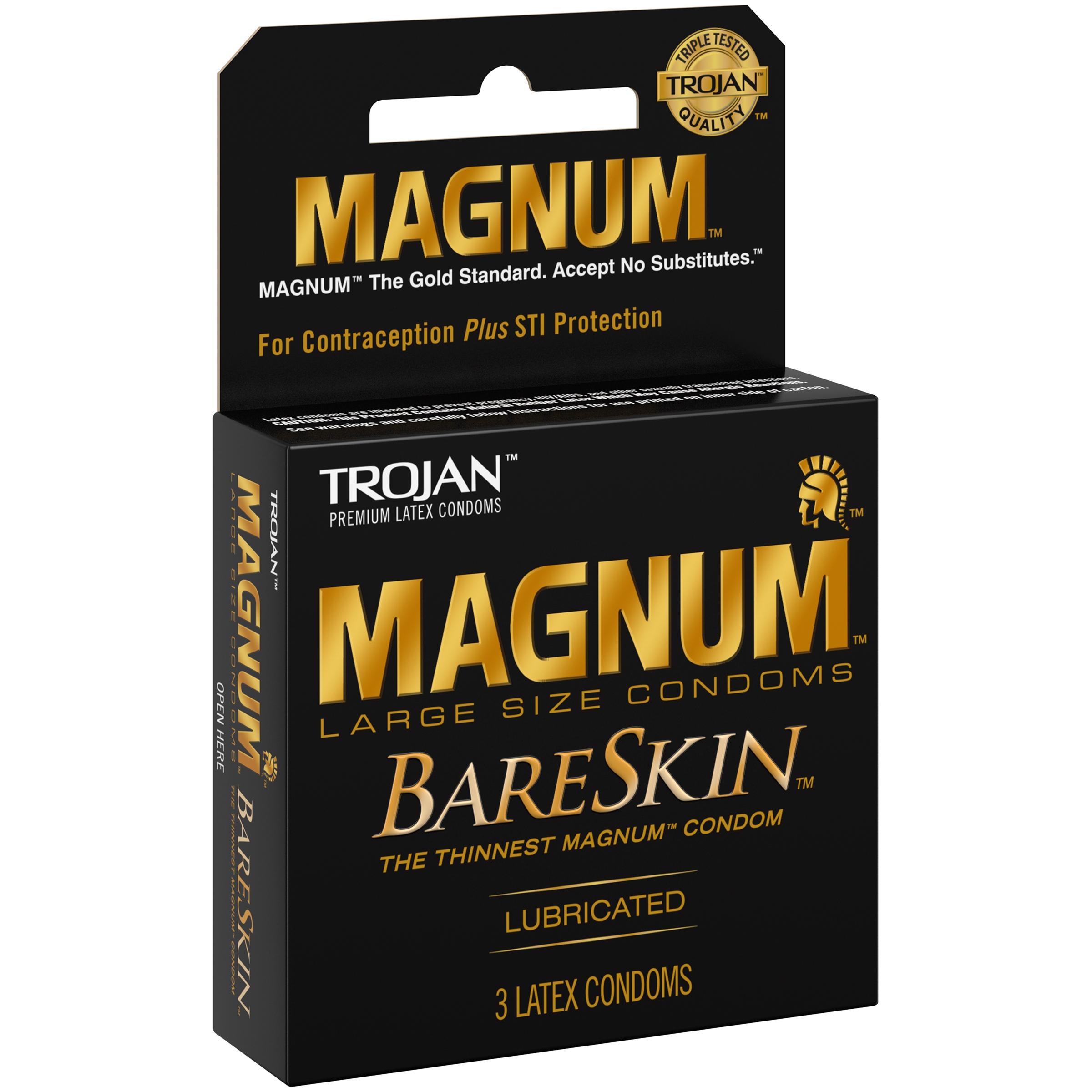 Trojan™ Magnum™ Bareskin™ Condom 3 ct Box.
