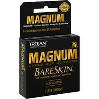 Trojan Magnum Bareskin Condom 3 ct Box.