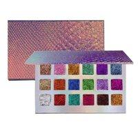 18 Colors Fish-scale Patterns Magnetic Glitter Eyeshadow Palette Waterproof Diamond Rainbow Makeup Eye Shadow Magnet Palette