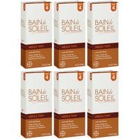 6 Pack Bain De Soleil Mega Tan SPF 4 with Self Tanner 4oz Each