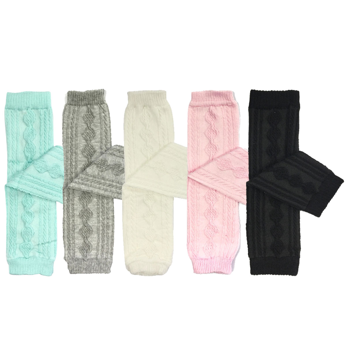 Wrapables® Set of 5 Baby & Toddler Leg Warmer Collection Premium Value Pack, VS5