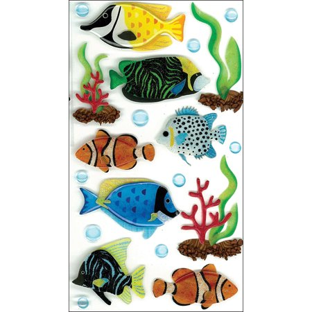 Jolee's Boutique Large Tropical Fish Stickers, 20 Piece - Fish Stickers