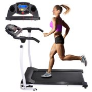 1100W Folding Electric Treadmill Portable Power Motorized Machine Running Jogging Gym Exercise Fitness White by Yescom