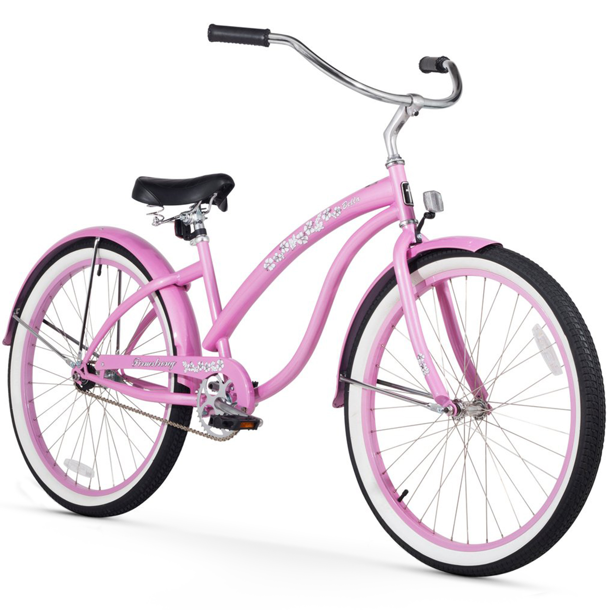"Firmstrong 26"" Women's Bella Classic Beach Cruiser Bicycle with 1, 3 and 7 Speed Options"