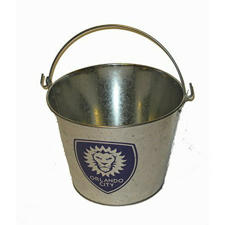 Image of Boelter Brands Orlando City SC MLS Soccer 5 Quart Ice Bucket Galvanized Pail #orlandounited
