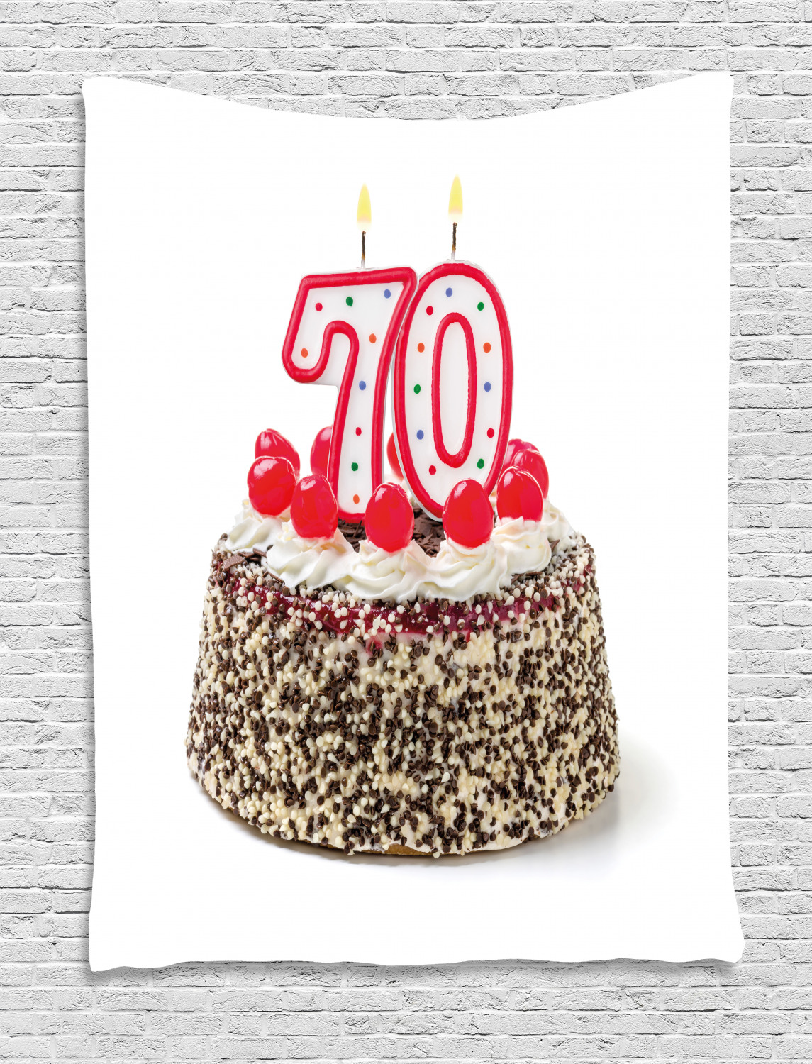 Awesome 70Th Birthday Decorations Tapestry Birthday Cake With 70 Number Funny Birthday Cards Online Amentibdeldamsfinfo