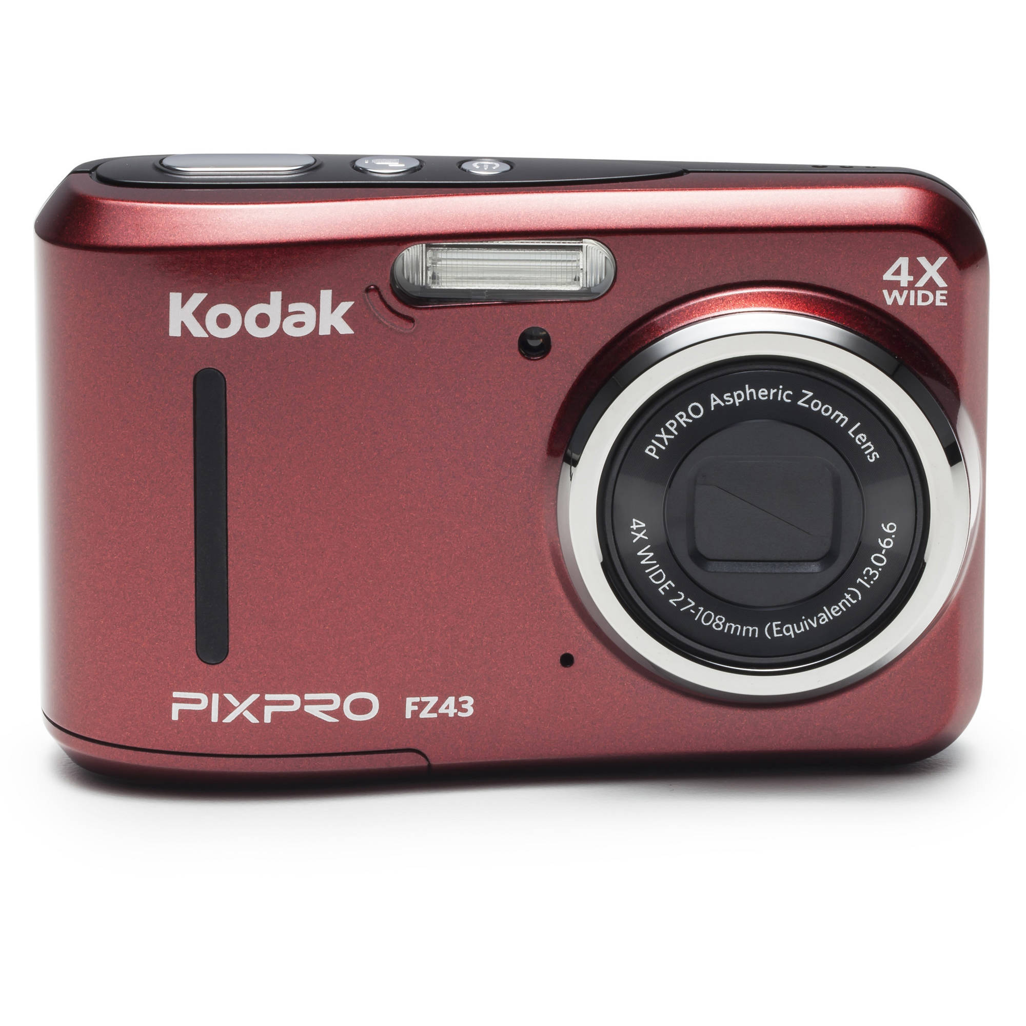 Kodak Red PIXPRO FZ43 Digital Camera with 16.15 Megapixels and 4x Optical Zoom