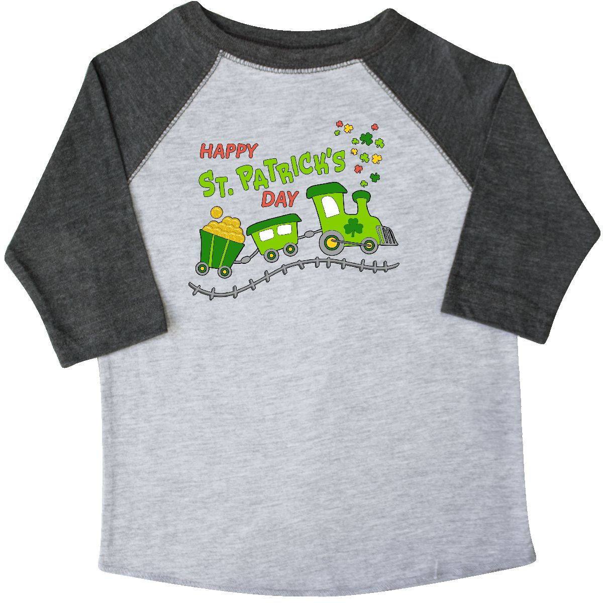 Inktastic Happy St. Patrick's Day Shamrock Train Toddler T-Shirt St. Patrick Pot
