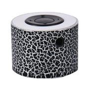 LED Portable Crackle Pattern Mini Speakers Wireless Hands Free Speaker Support TF Card U Disk
