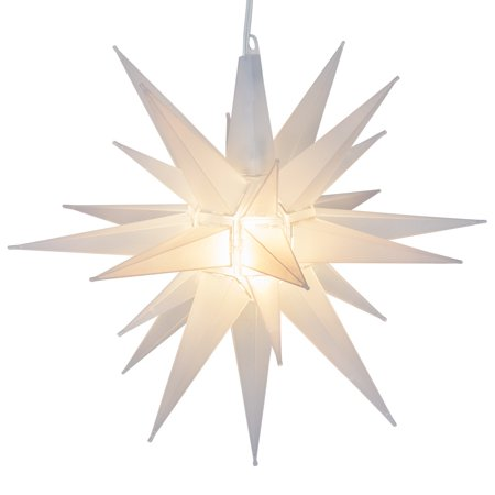 Kringle Traditions Frosted LED Moravian Star Light, Star Outdoor Decoration - 14