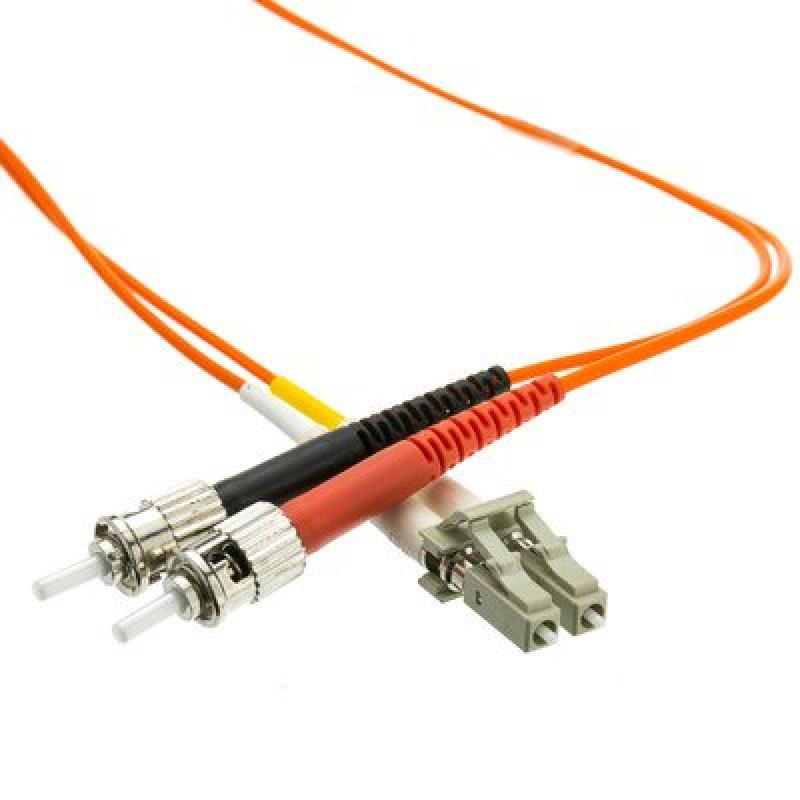 LC/ST Multimode Duplex Fiber Optic Cable, 62.5/125, 7 meter ( 3 PACK ) BY NETCNA
