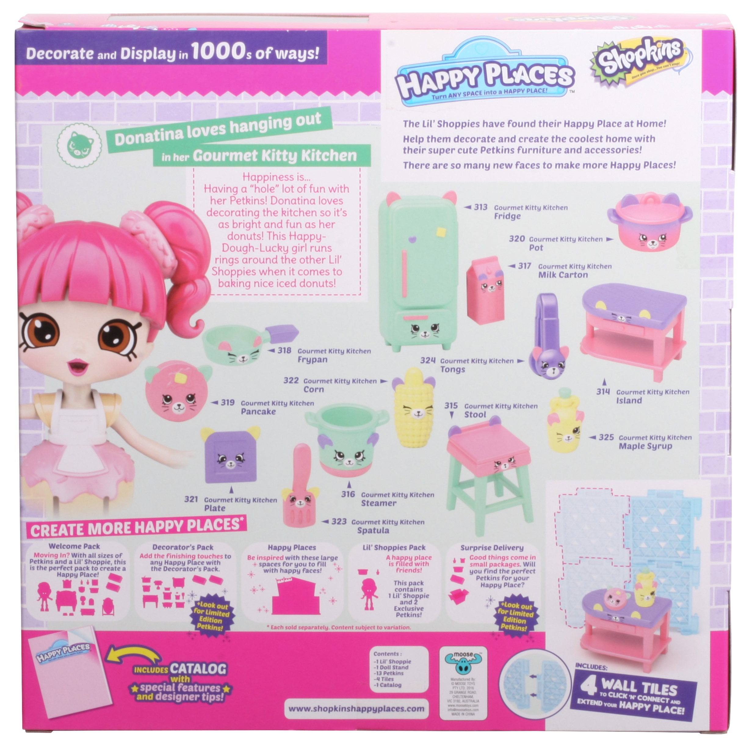 Shopkins - Happy Places Welcome Pack, Gourmet Kitty Kitchen ...