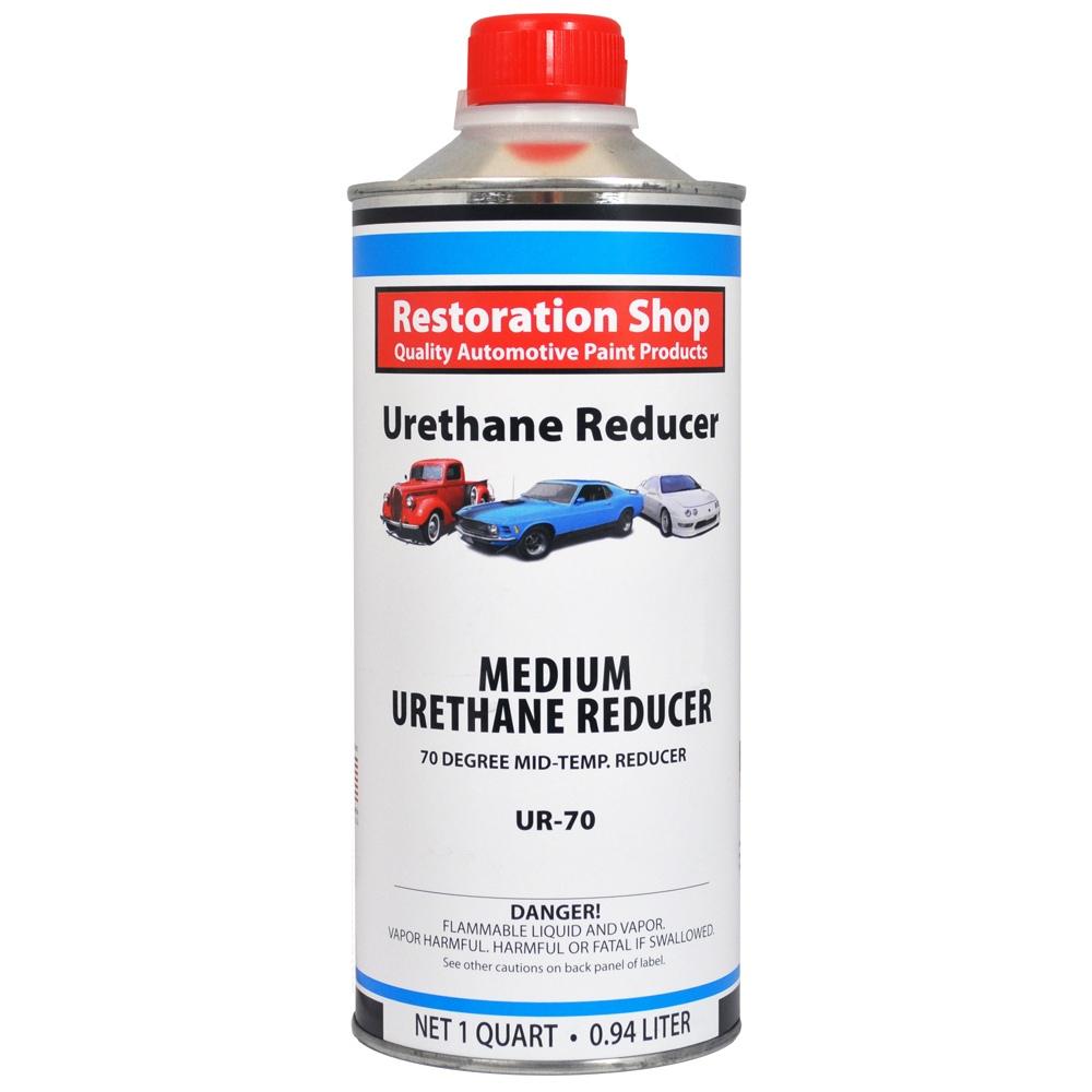 1 Quart MEDIUM Urethane Reducer 70 - 85 Degrees Mid Temp Auto Paint Thinner