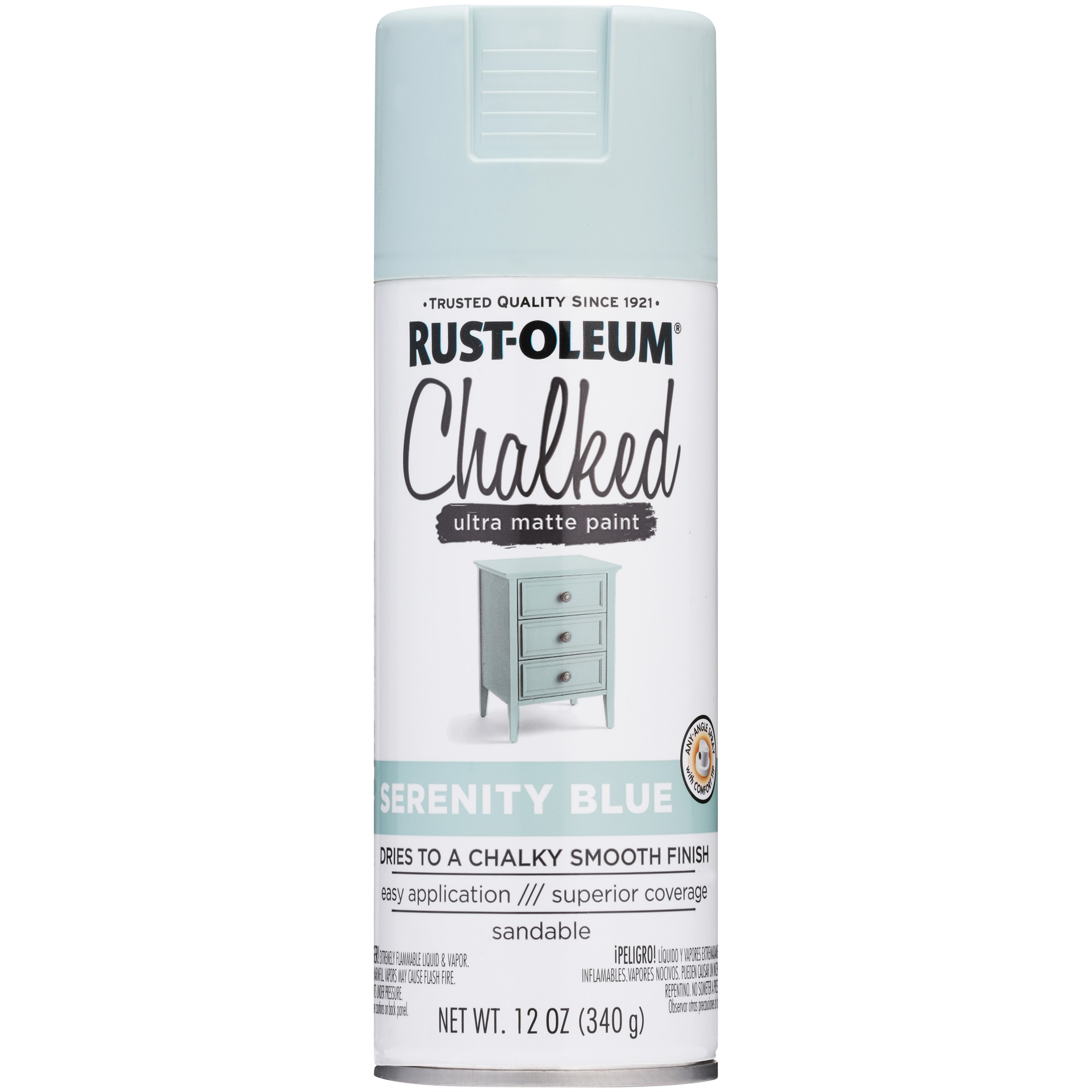 Rust-Oleum® Chalked Serenity Blue Ultra Matte Paint 12 oz. Can