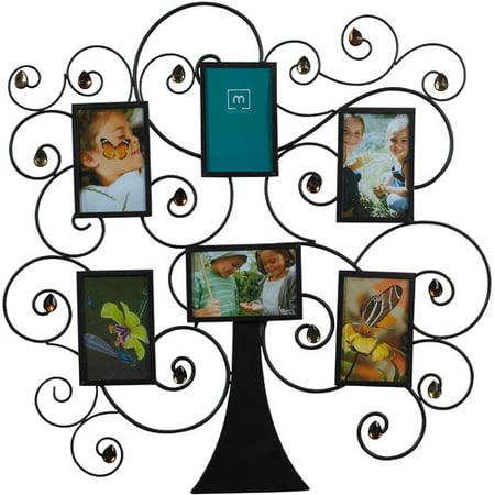 Melannco 6 Frame Family Tree Amber Gem Collage Walmartcom