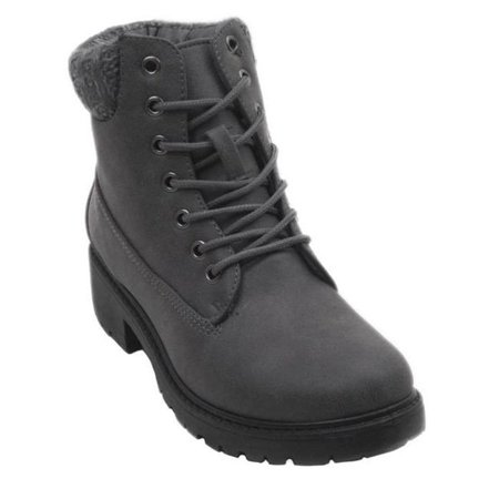 Jesco Footwear L-3810-010-007 2018 Holidays Collection Yamary Blue Womens Low Heel Ankle High Lace Up Side Zip Fashion Winter Fall Boots - Black, Size (The North Face Greenland Zip Footwear)