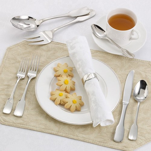 Ginkgo Alsace Stainless Mirror Finish Flatware - Set of 20
