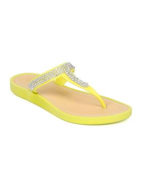 74abaa58ee3b Product Image Women PVC Rhinestone Thong Sandal HA60. Wild Diva