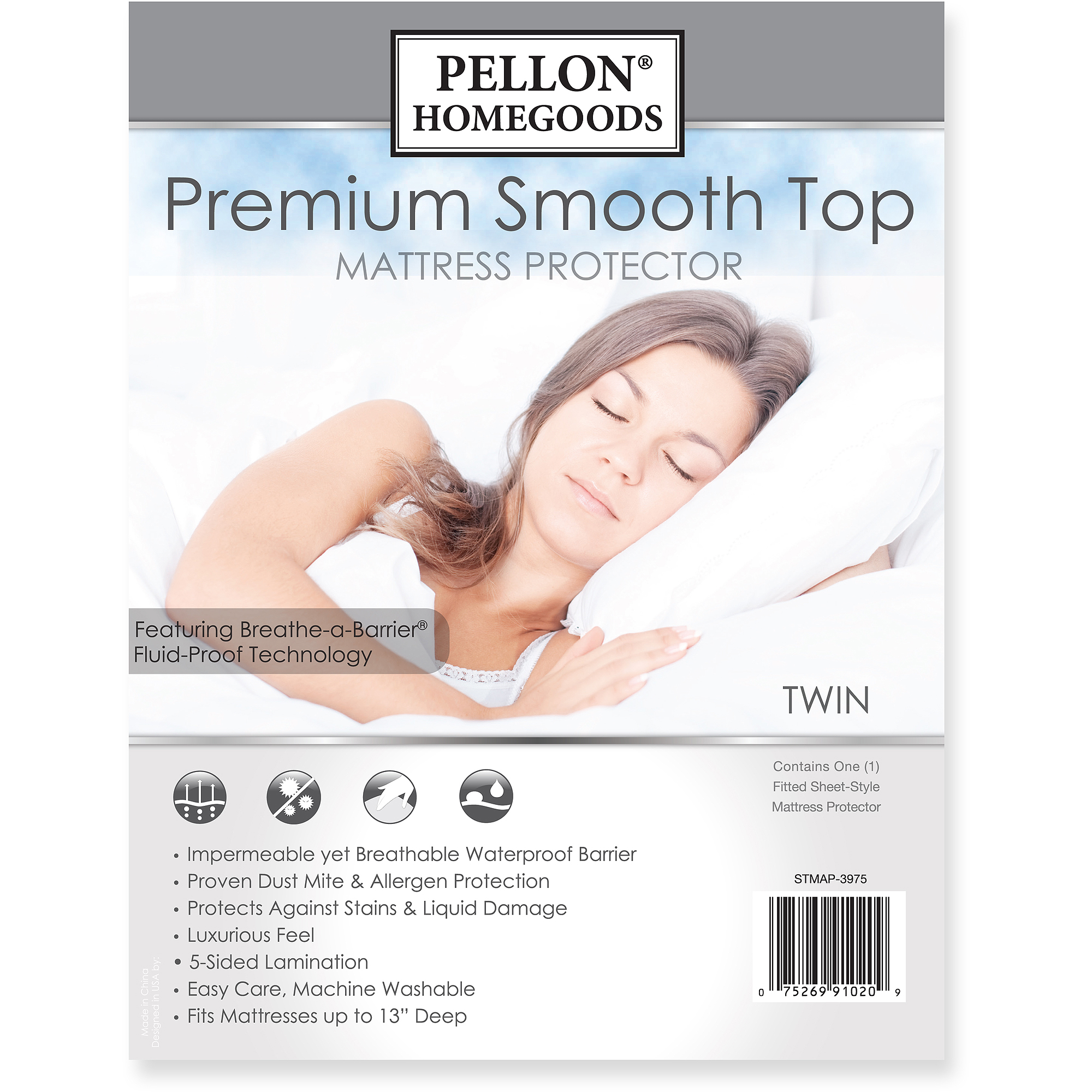 Pellon Premium Smooth Top Mattress Protector