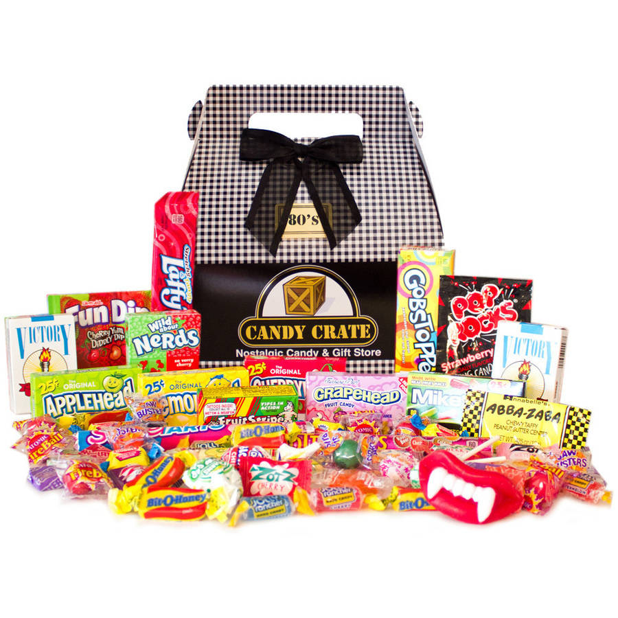 Candy Crate Inc. 1980's Classic Retro Candy Gift Box, 2.5 lbs by