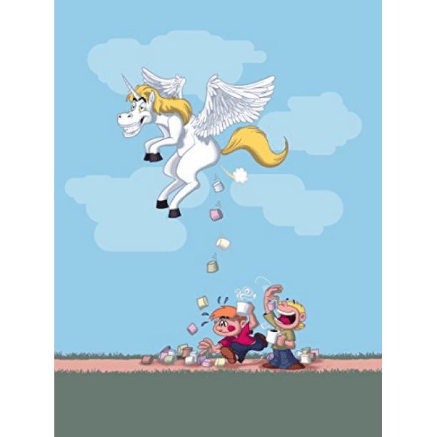 Hat Shark Pegacorn Marshmallows Funny Unicorn Cartoon Pooping Candy 18x24 Vinyl Print Poster Walmart Com Walmart Com